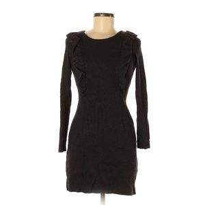 French Connection Dark Gray 3-4 Sleeve Dress
